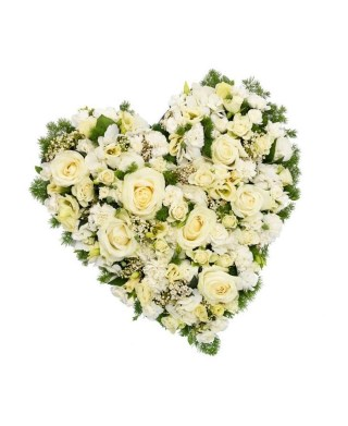 Corazón Funerario Rosas - 981