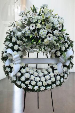 Corona Funeraria Blanca - 801