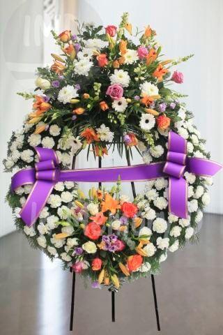 Corona Funeraria Doble Cabezal - 805