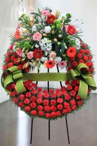 Corona Funeraria Roja - 803